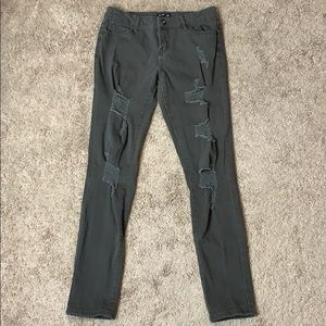 Silver Crush Olive Jeans